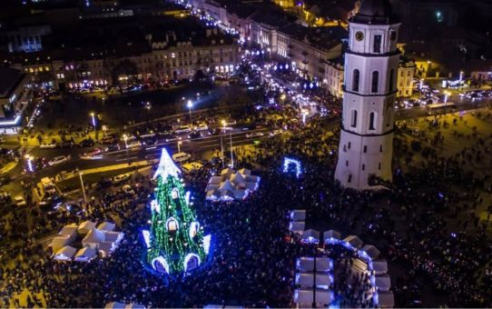 Рождественский базар в Вильнюсе