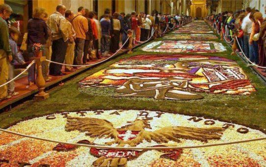Фестиваль цветов Инфиората в Италии