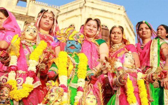Фестиваль Gangaur festival в Раджастане