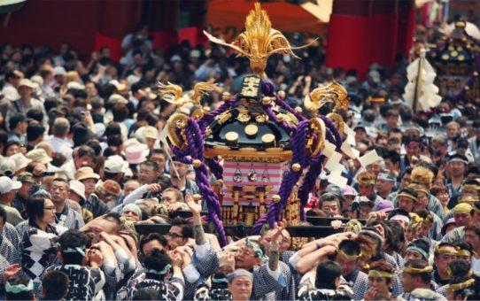 Фестиваль Сандзя Мацури в Токио