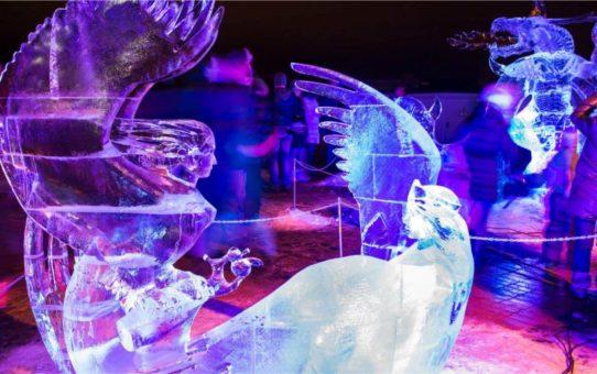 Международный фестиваль ледовых скульптур в Елгаве