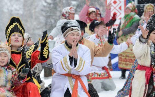Праздник Нового года Чага Байрам в Горно-Алтайске