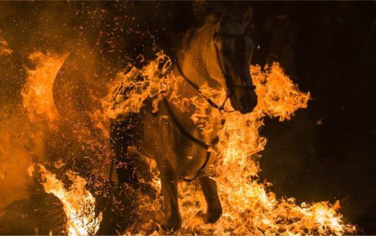 Праздник огня Luminarias в Сан-Бартоломе-де-Пинарес