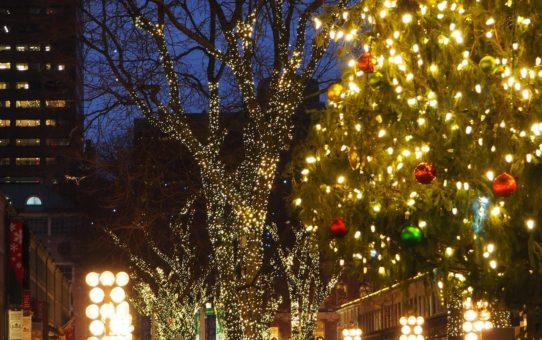 Рождественские огни в Бостоне