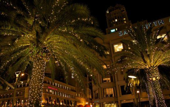 Рождественские огни в Калифорнии