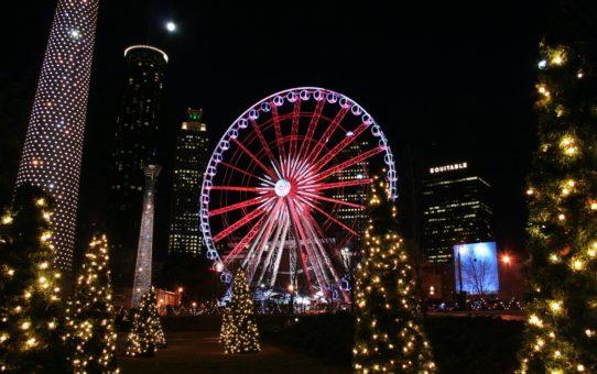 Рождественские огни в Грузии