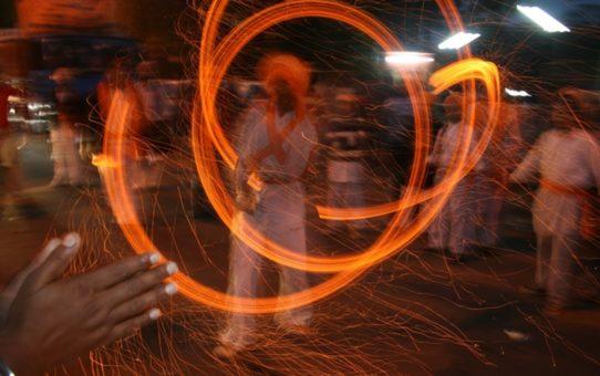 День Lohri в Индии