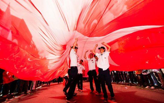День памяти Ататюрка, молодежи и спорта День в Стамбуле