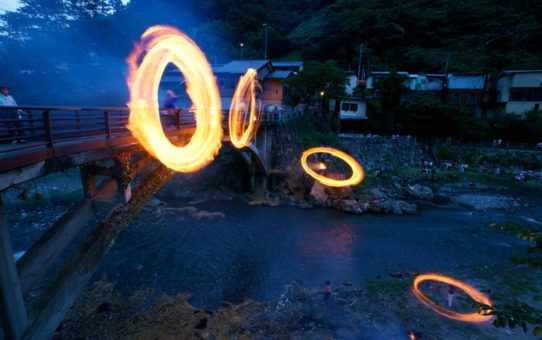 Фестиваль огненного кольца в Японии