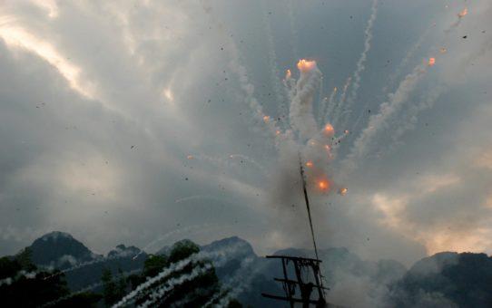 Боун Банг Фай или Ракетный фестиваль в Лаосе