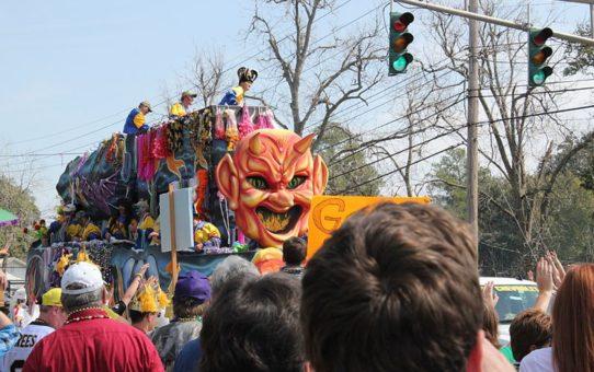 Исторический фестиваль Lafayette Mardi Gras в Луизиане
