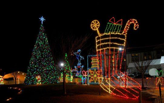 Рождественские огни вокруг Мэриленда