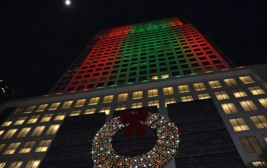 Рождественские огни в Майами