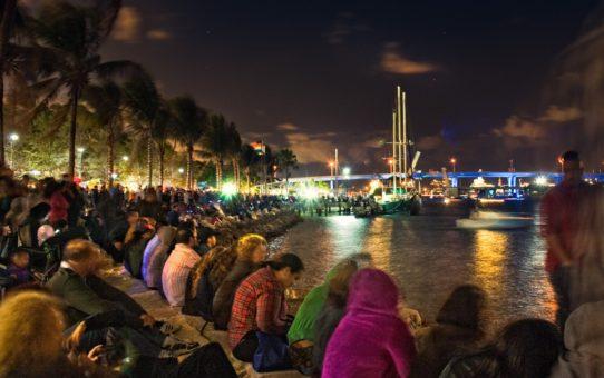 Канун Нового года в парке Бэйфронт, Майами
