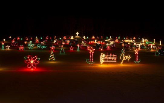 Рождественские огни в Нью-Гемпшире