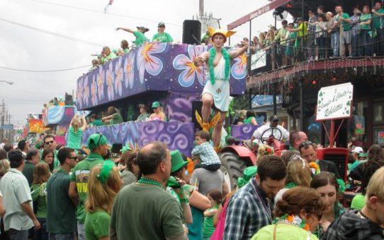 День Празднование Святого Патрика в Нью-Орлеане