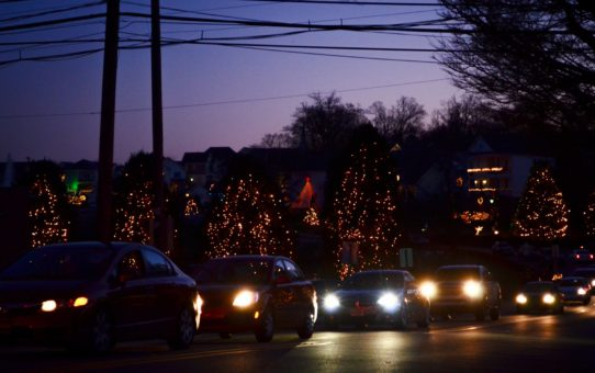 Рождественские огни в Северной Каролине