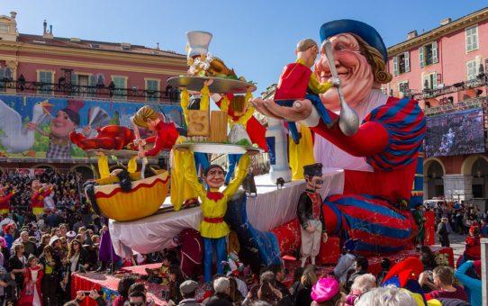 Карнавал де Ницца в Провансе и французской Ривьере