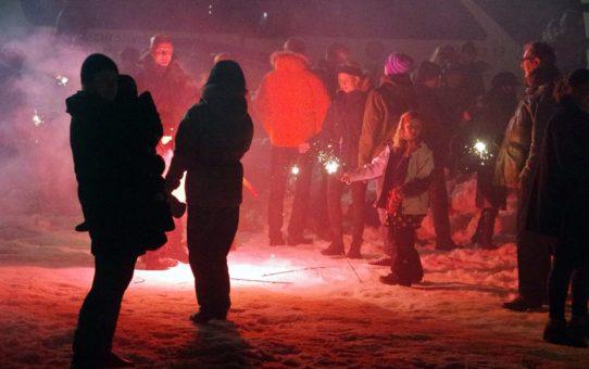 Новогодние костры в Рейкьявике