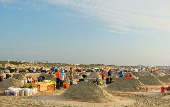 Фестиваль песочных скульптур Texas SandFest в Порт-Аранзас