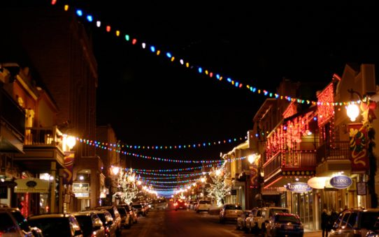 Рождественские огни в штате Юта