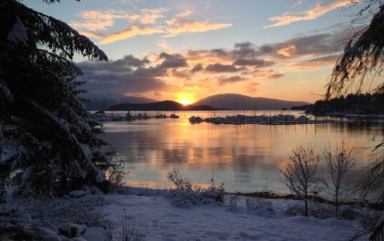 Зимние закаты на Аляске, США