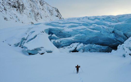 Поход на ледник на Аляске, США