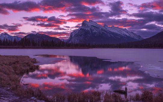 Восход и закат озер Вермилион, Канада