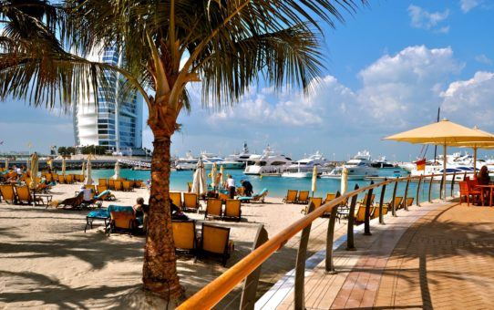 Пляжный сезон в Дубае ОАЭ