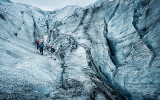 Прогулка по леднику в Рейкьявике