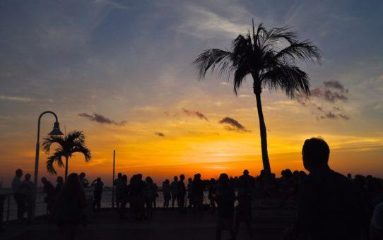 Празднование заката в Ки-Уэсте, Флорида
