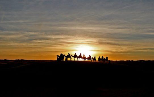 Восход и закат в Марокко