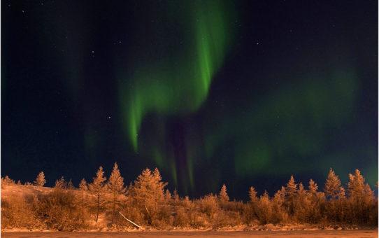 Северное сияние на полуострове Таймыр, Красноярский край