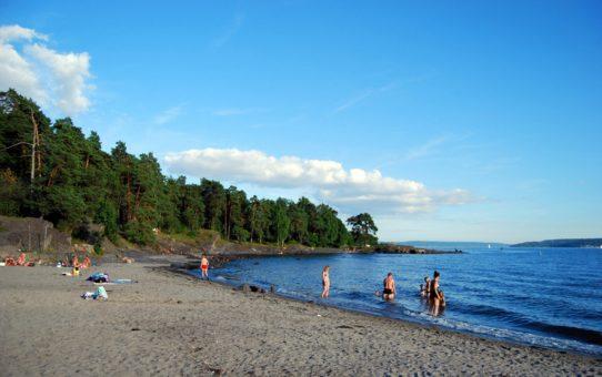 Гук пляжный сезон в Норвегии