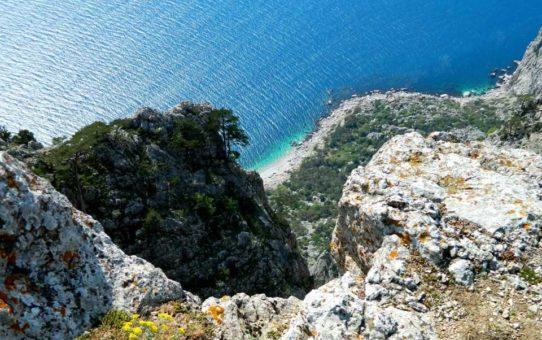 Пляж «Затерянный мир» на мысе Айя, Крым