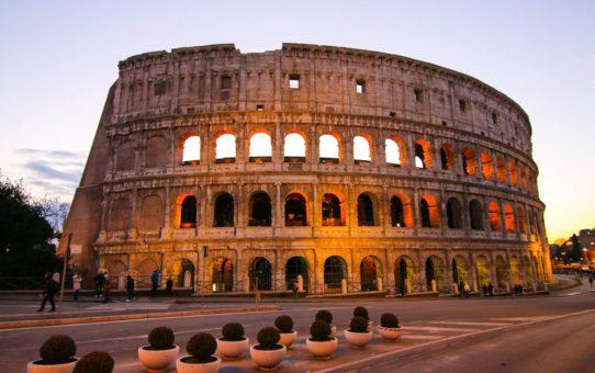 Зимние закаты в Риме