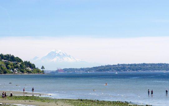 Пляжный сезон в Вашингтоне, США