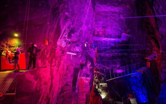 Скачок ниже в пещерах Ллехведд